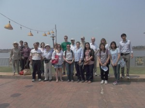 UK CC researchers and specialists field trip - at the Mekong River