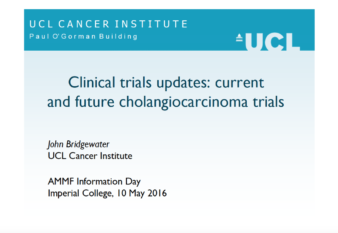 Prof John Bridgewater's presentation: Clinical Trials updates: current and future cholangiocarcinoma trials