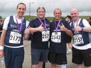 Neil, Douglas, James and Craig ran 10K