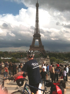 Stuart cycled London to Paris