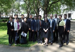 Helen Morement of AMMF with the Thai delegation and members of the Imperial College CC research team 06.06.13