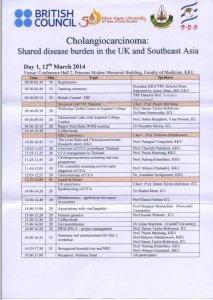 British Council and Thailand Research Fund Workshop