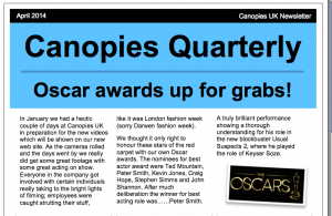 Canopies Quarterly, April 2014