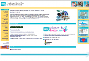 Health and Social Care in Northern Ireland website