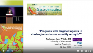 """Professor Juan Valle's presentation, """"Progress with targeted agents in cholangiocarcinoma - reality or myth?"""""""
