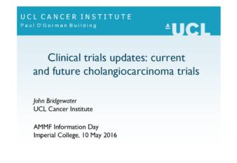 Prof John Bridgewater's presentation: Clinical Trials updates: current and future cholangiocarcinoma trials