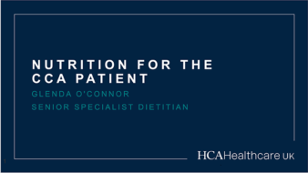 Nutrition for the CCA patient